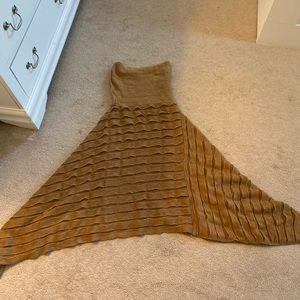 Orange rust sweater poncho